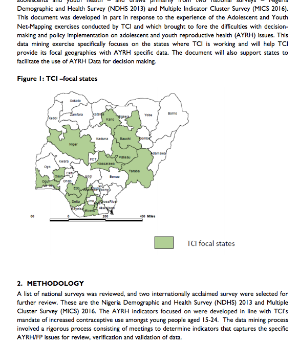 Adolescent and Youth Family Planning Practices in Selected States in Nigeria: A Review of Key Indicators
