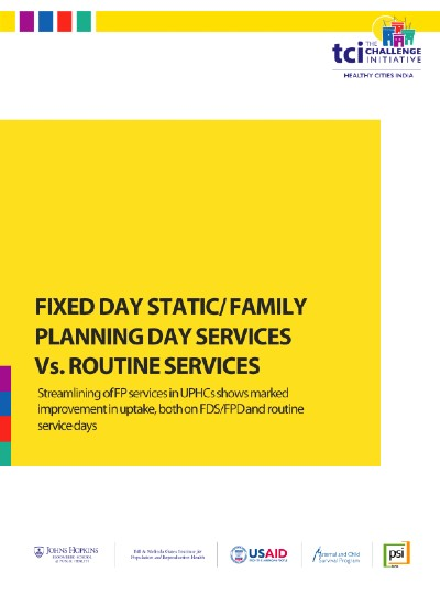 Fixed Day Static/Family Planning Day Services vs. Routine Services